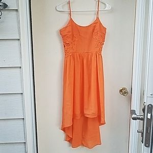 Maurice's 5/6 orange high low dress